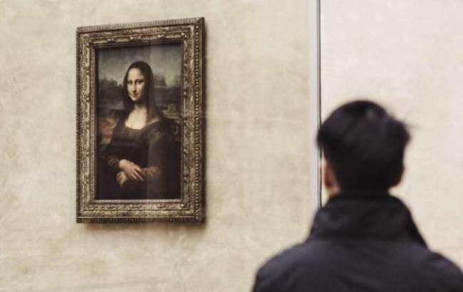 Bild der Mona Lisa im Louvre
